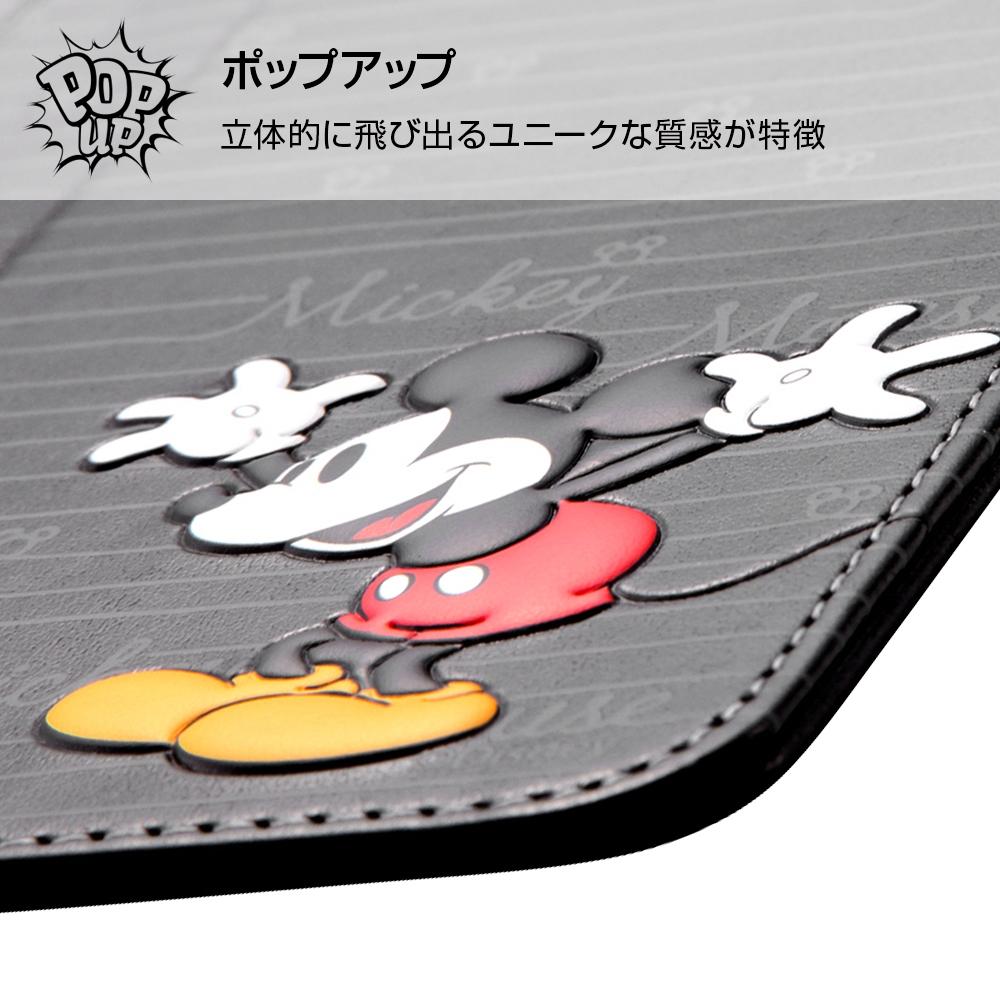 iPhone XS/X ディズニーキャラクター/手帳型ケース スタンディング カーシヴ/ミッキー