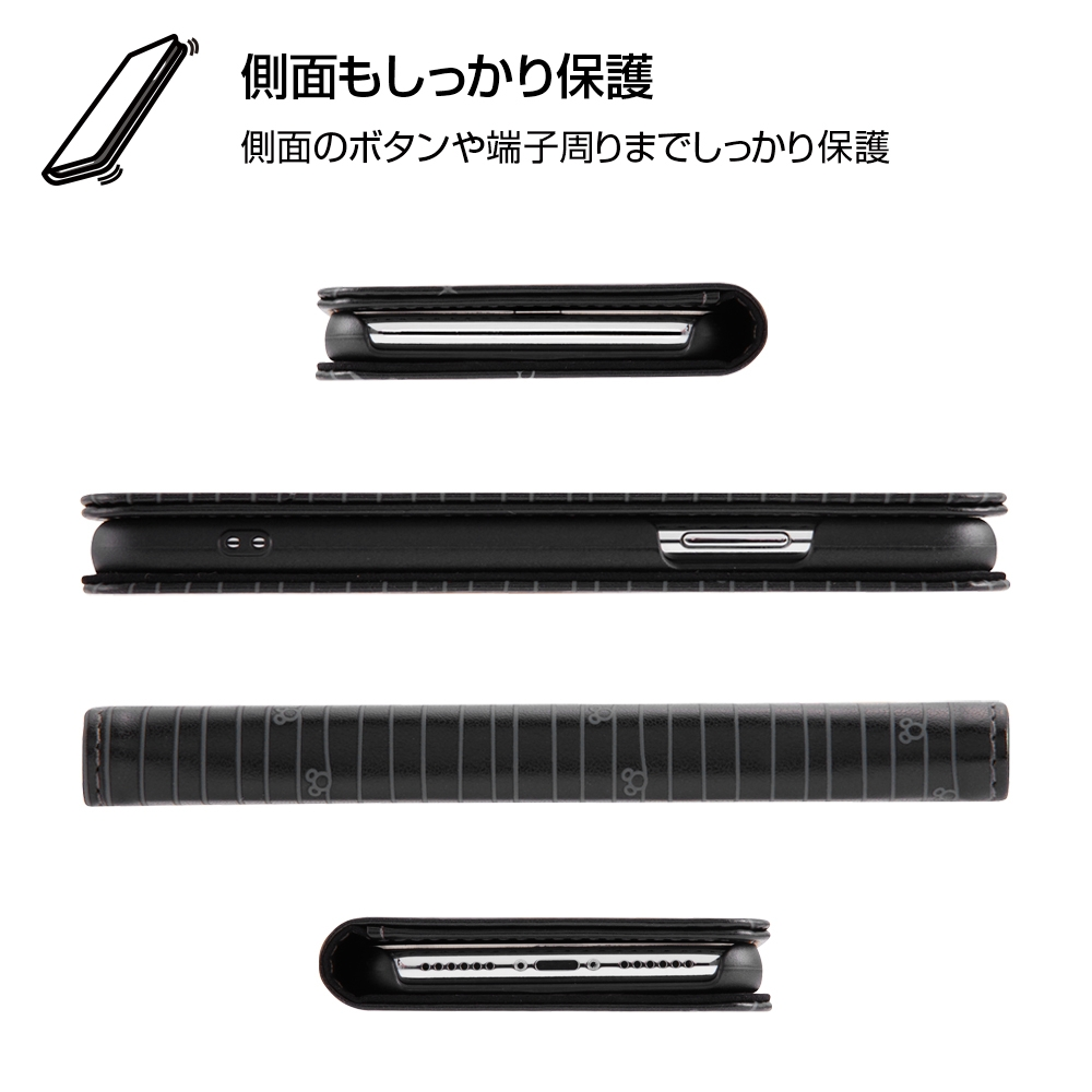 iPhone XS/X ディズニーキャラクター/手帳型ケース スタンディング カーシヴ/ミニー