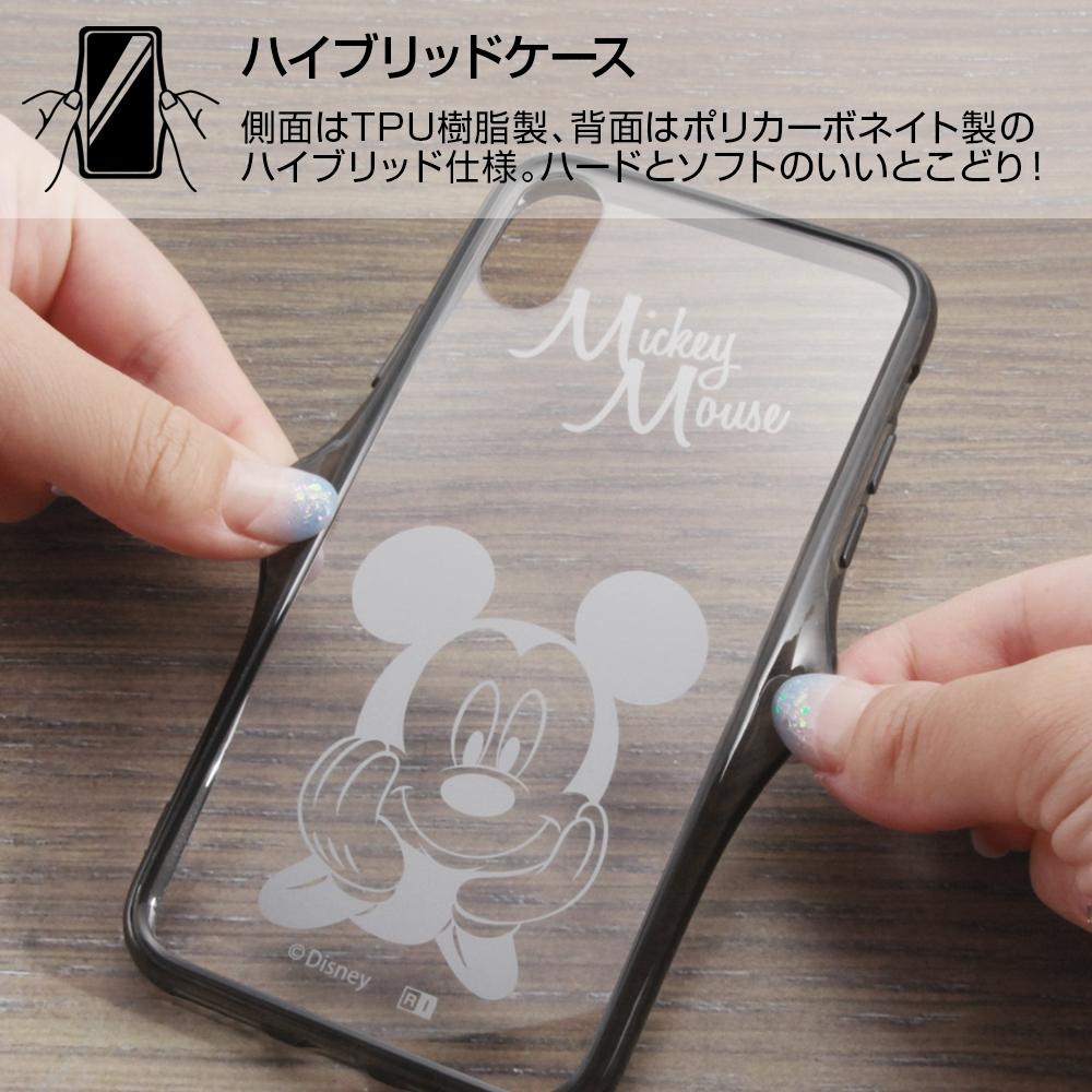 iPhone XS/X ディズニーキャラクター/ハイブリッドケース/ミッキー