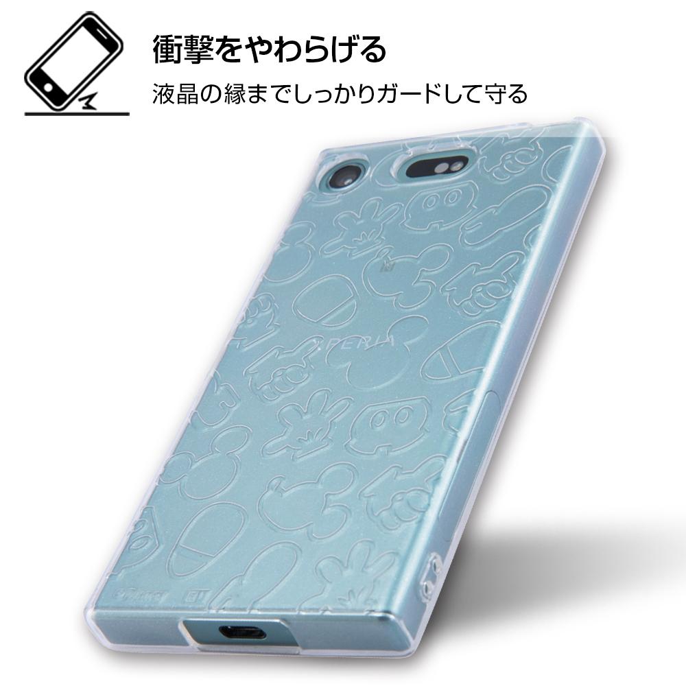 Xperia XZ1 Compact ディズニーキャラクター/TPUソフトケース キラキラ/ミニー