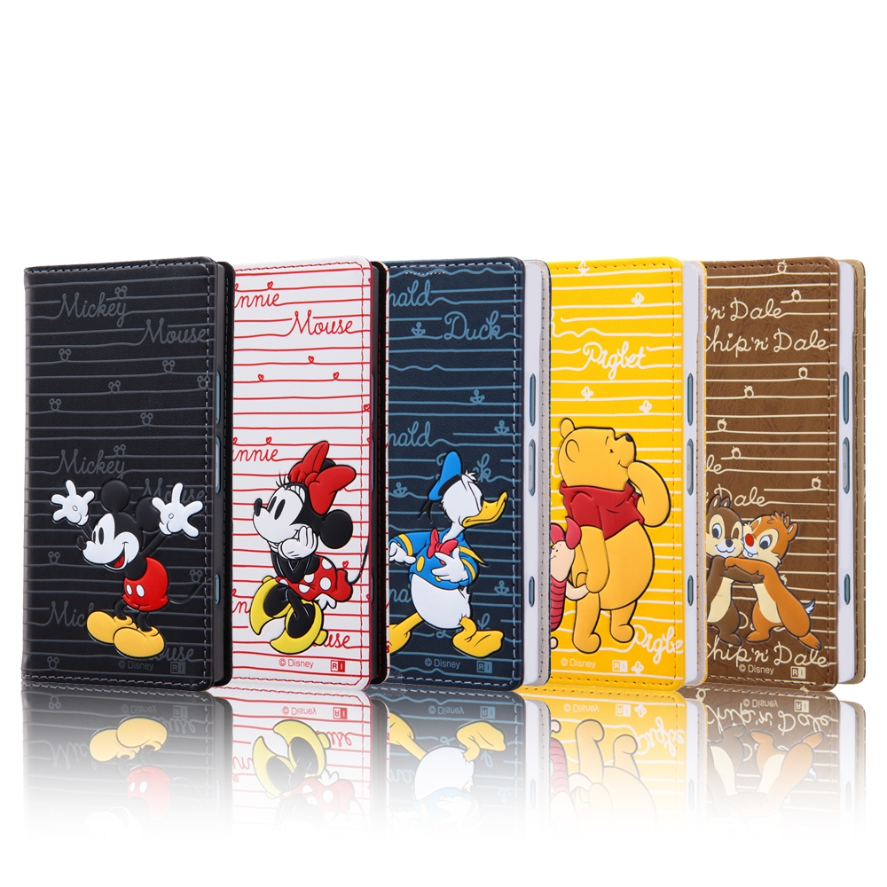 Xperia XZ1 Compact ディズニーキャラクター/手帳型ケース スタンディング カーシヴ/ミッキー