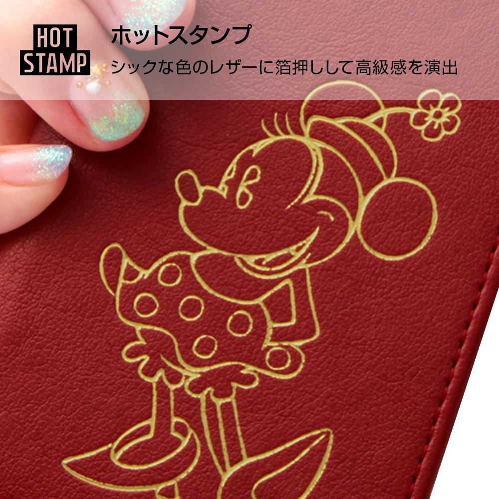 Galaxy Note8 ディズニーキャラクター/手帳型ケース ホットスタンプ ワンポイント/ミッキー