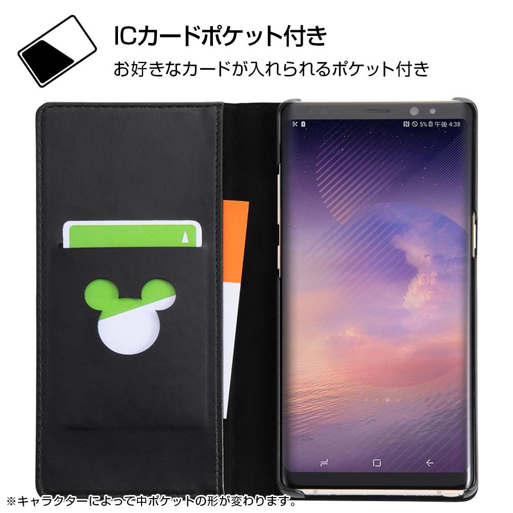 Galaxy Note8 ディズニーキャラクター/手帳型ケース ホットスタンプ ワンポイント/ミニー