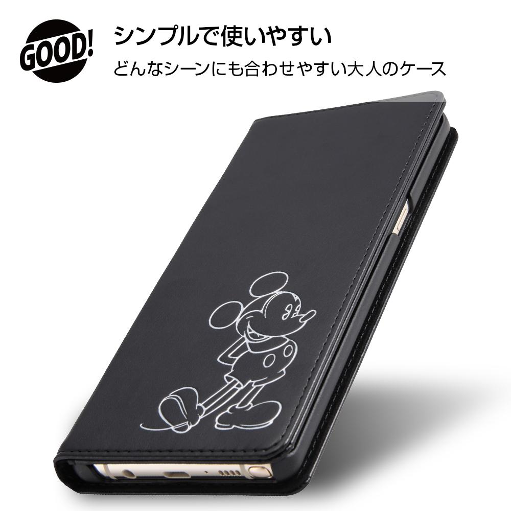 Galaxy Note8 ディズニーキャラクター/手帳型ケース ホットスタンプ ワンポイント/プー