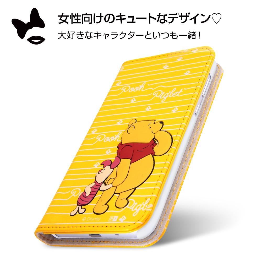 AQUOS sense/sense lite ディズニーキャラクター/手帳型ケース スタンディング カーシヴ/プー