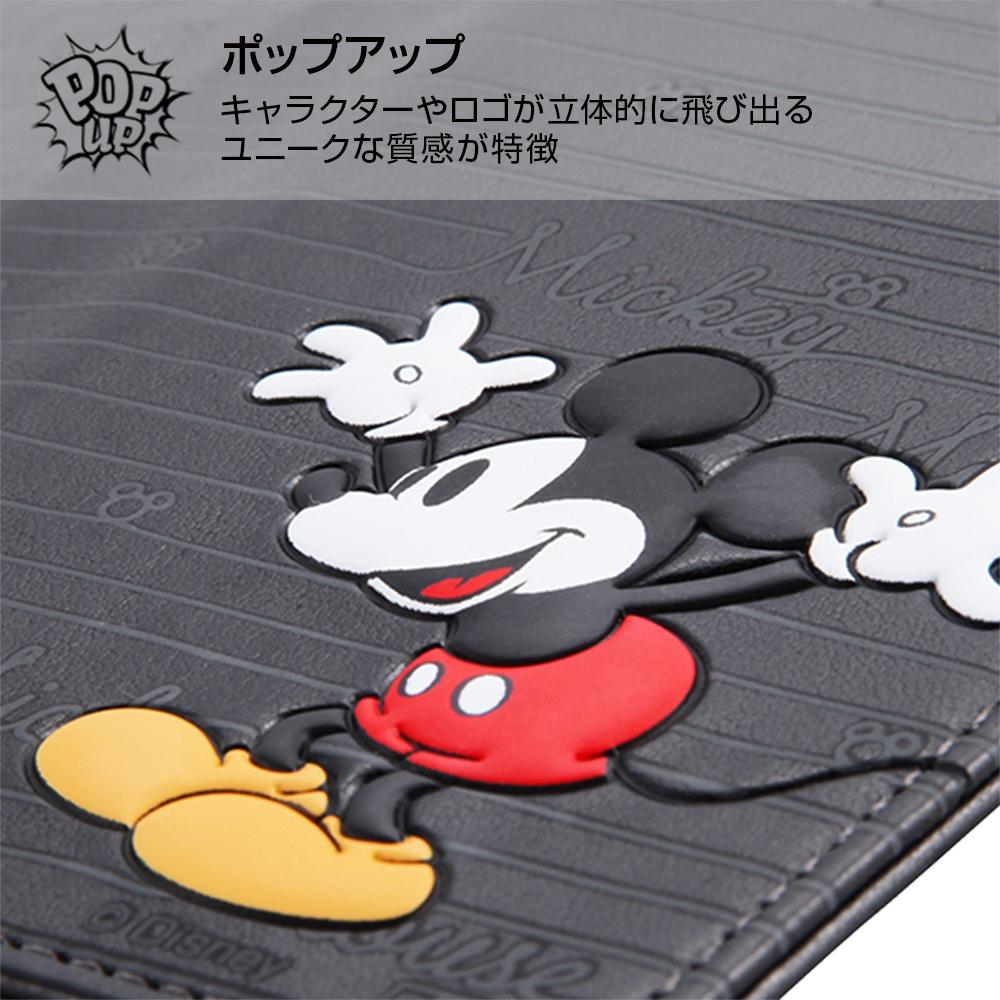 AQUOS R compact ディズニーキャラクター/手帳型ケース スタンディング カーシヴ/ミッキー