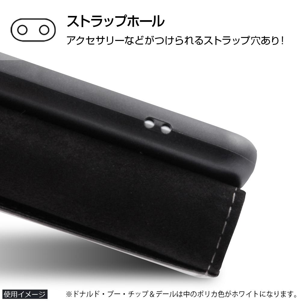 AQUOS R compact ディズニーキャラクター/手帳型ケース スタンディング カーシヴ/チップ&デール