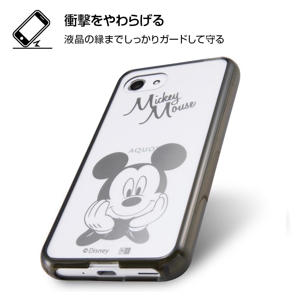 AQUOS R compact ディズニーキャラクター/ハイブリッドケース/ミッキー