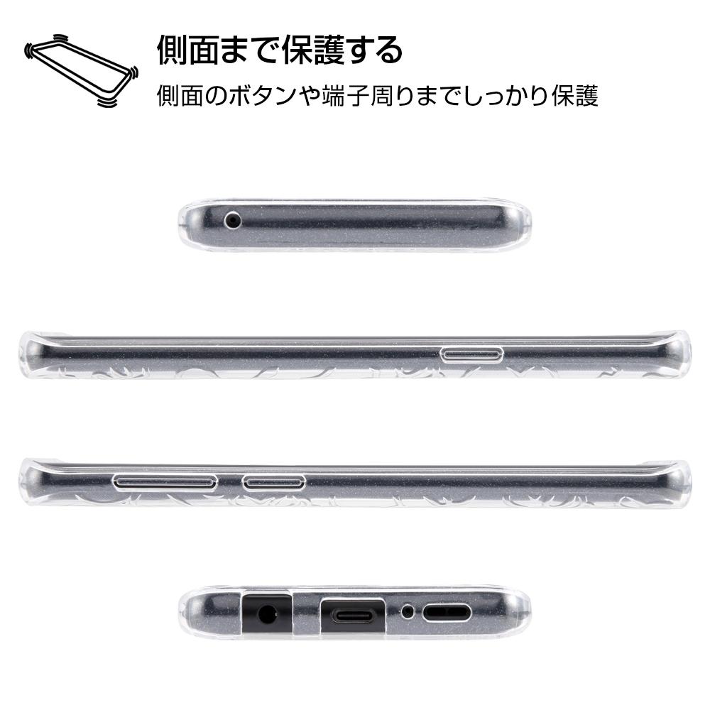 Galaxy S9 ディズニーキャラクター/TPUソフトケース キラキラ/ミッキー・クリア