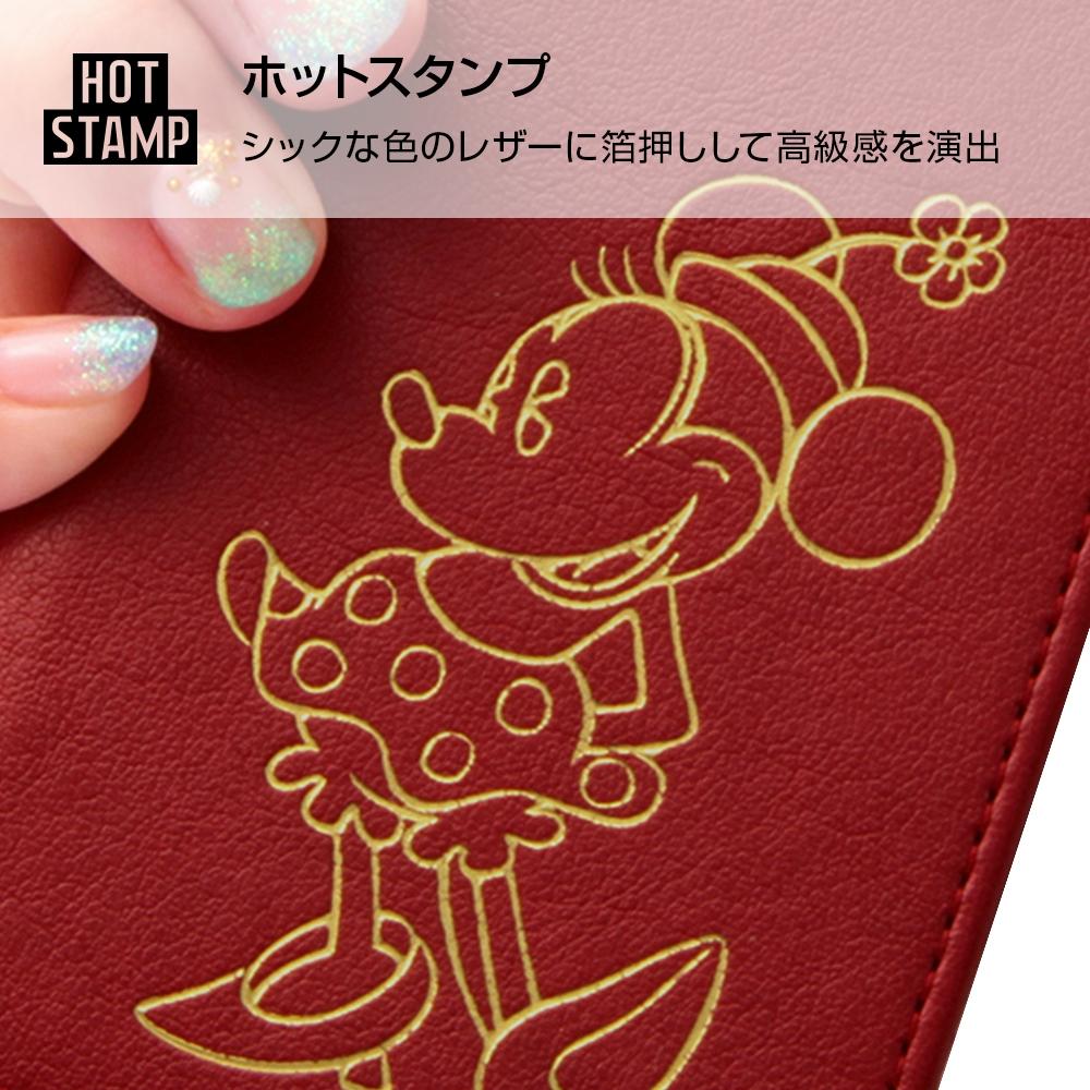 Xperia XZ2 『ディズニーキャラクター』/手帳型ケース ホットスタンプ ワンポイント/ミッキー