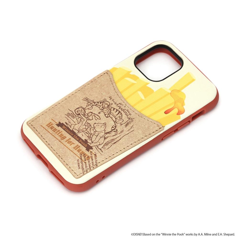 iPhone 12 mini用 タフポケットケース [くまのプーさん]