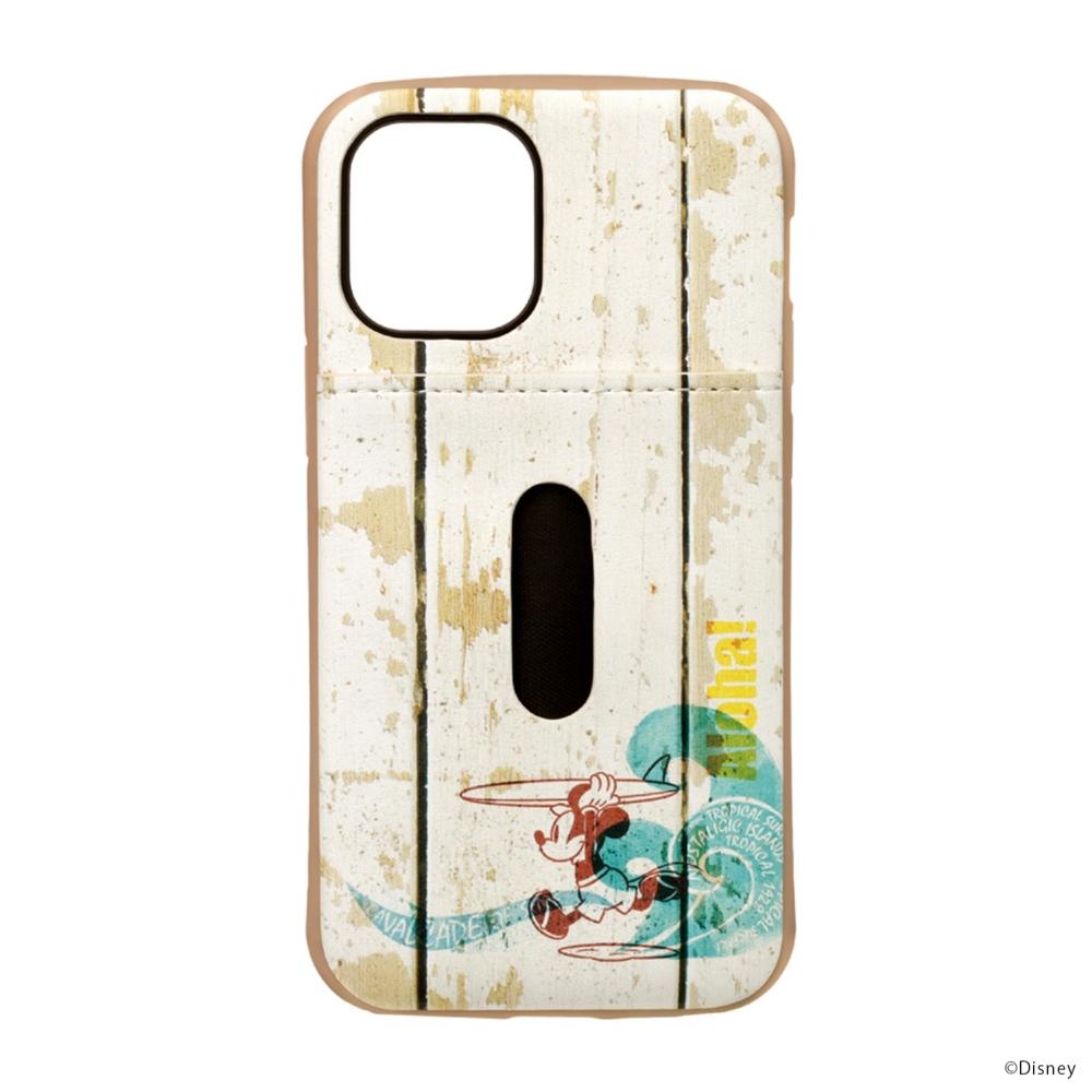 iPhone 12 mini用 タフポケットケース [ミッキーマウス/サーフ]