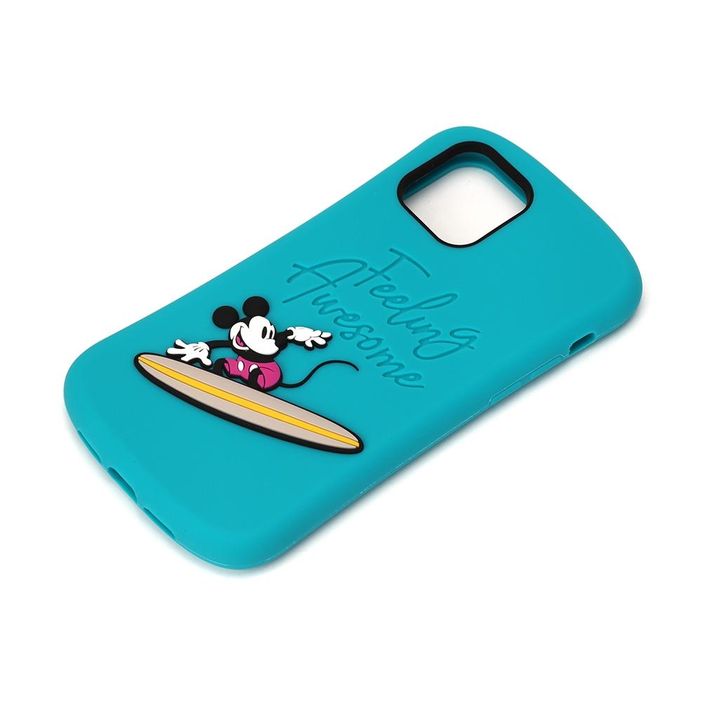 iPhone 12 mini用 シリコンケース [ミッキーマウス/サーフ]