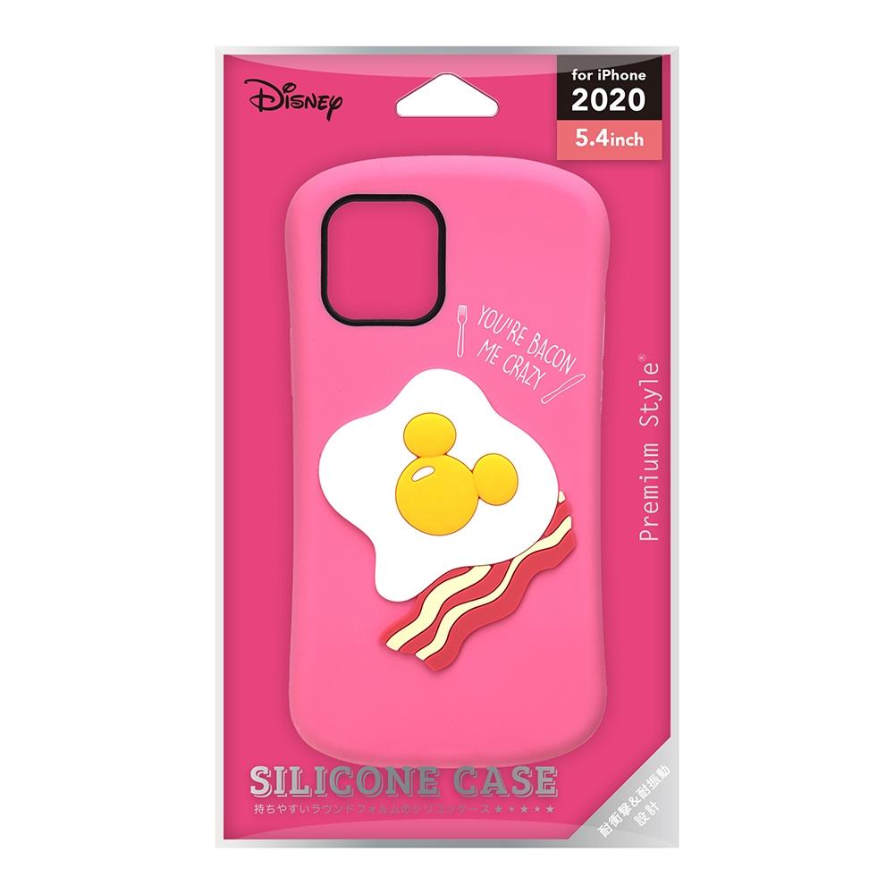 iPhone 12 mini用 シリコンケース [ミッキーマウス/エッグ]