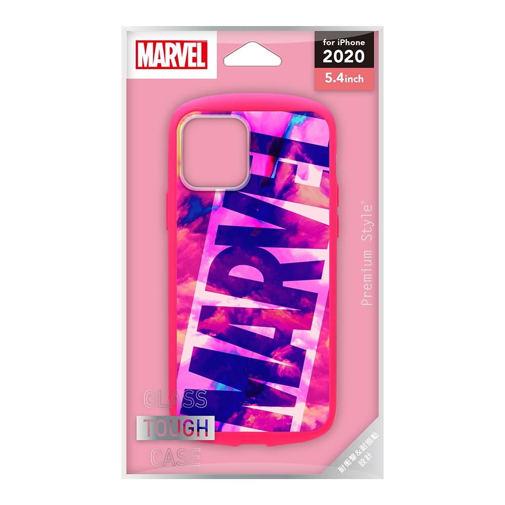iPhone 12 mini用 ガラスタフケース [ロゴ/ピンク]