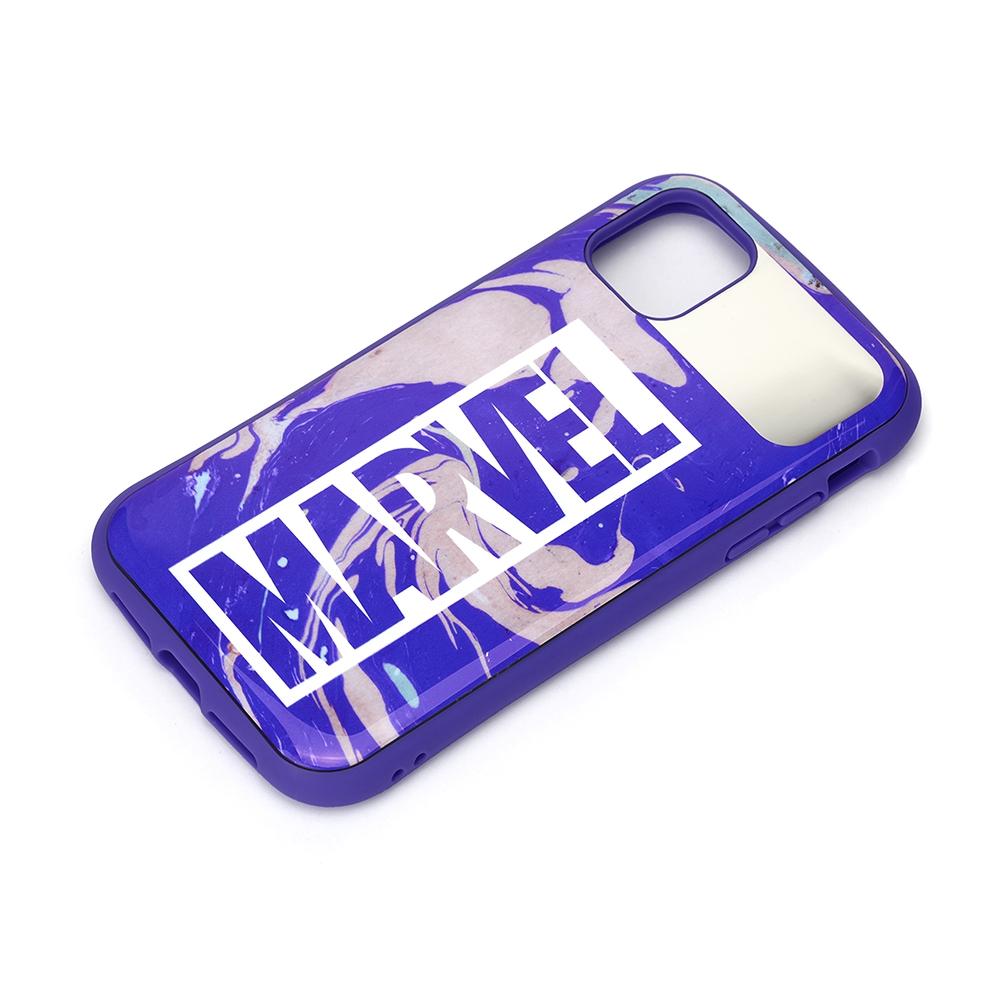 iPhone 12 Pro Max用 ハイブリッドタフケース [ロゴ/パープル]
