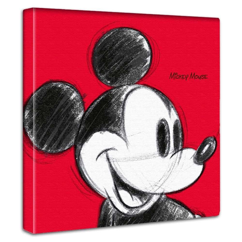 【ファブリックパネル】ミッキーマウス レッド 【dsn-0011】