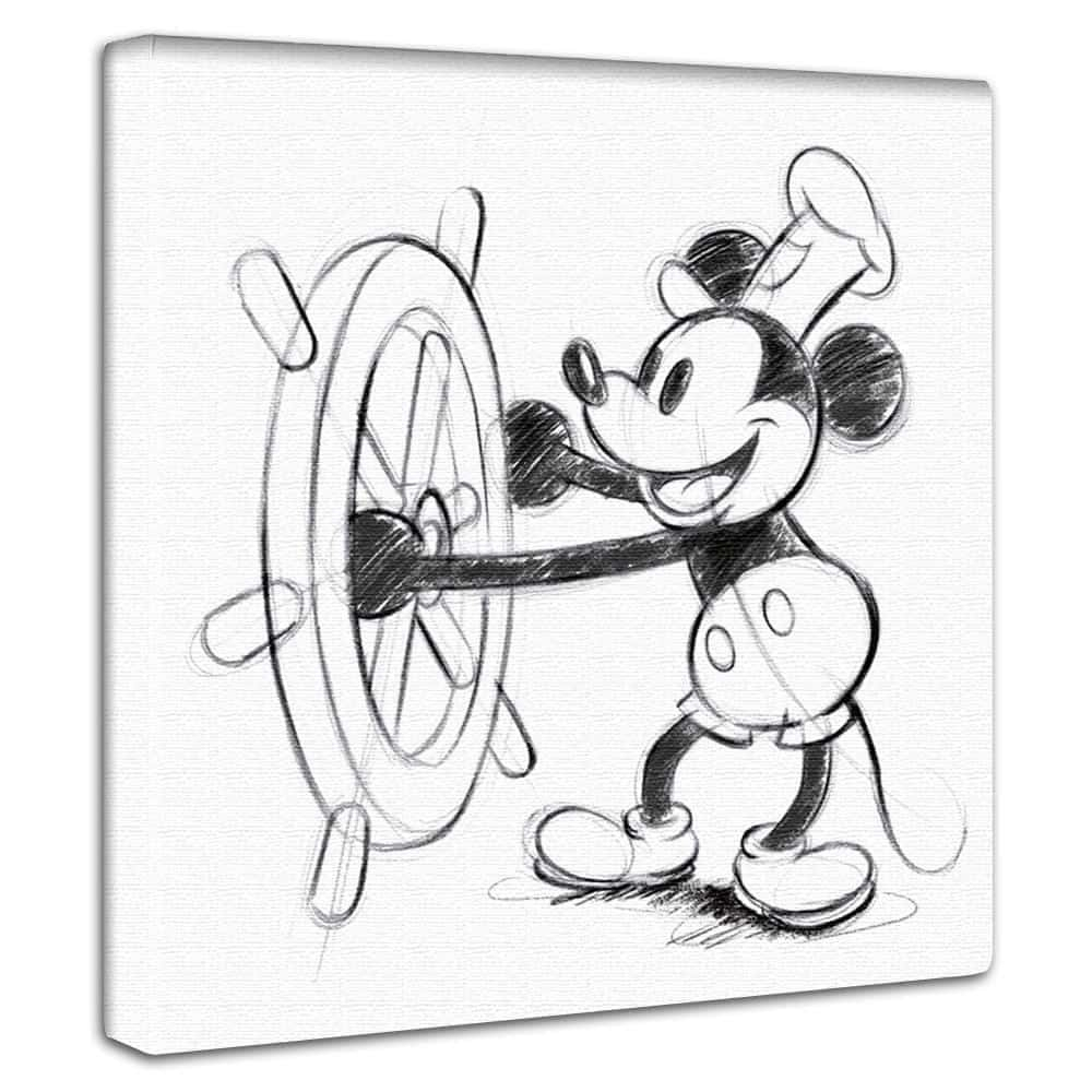【ファブリックパネル】蒸気船ウィリー 【dsn-0143】