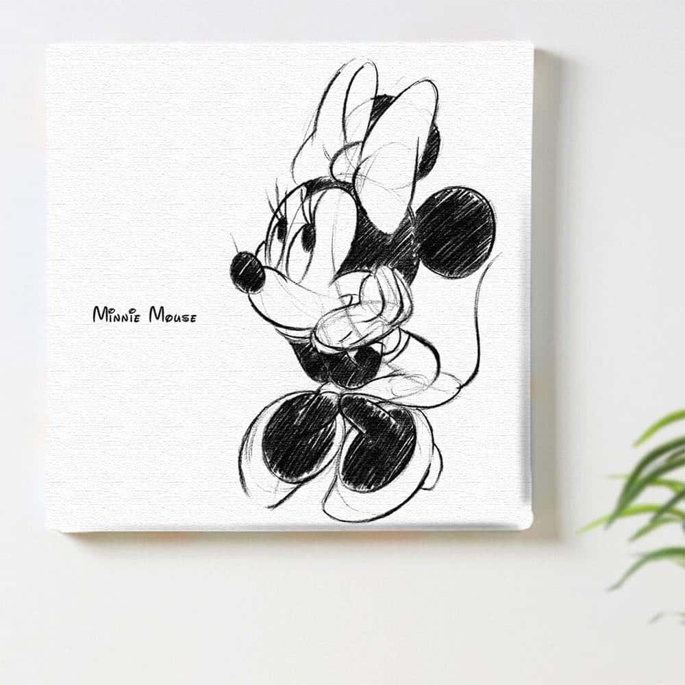 【ファブリックパネル】ミニーマウス B 【dsn-0148】