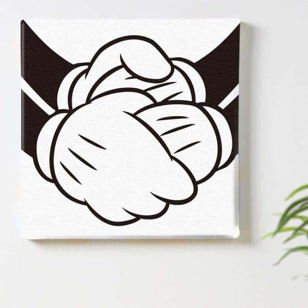 【ファブリックパネル】ミッキーマウス&ミニーマウス 握手 【dsn-0289】