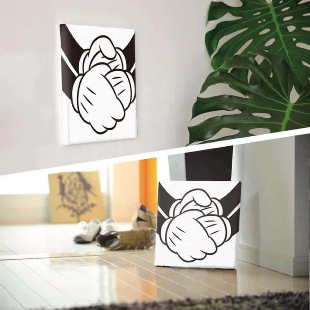 【ファブリックパネル】ミッキーマウス&ミニーマウス 握手 【dsn-0285】