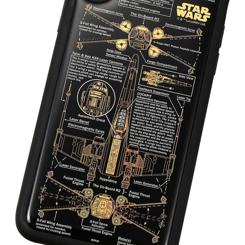 スター・ウォーズ iPhone X/XS用 スマホケース・カバー FLASH X-WING 基板アート ブラック