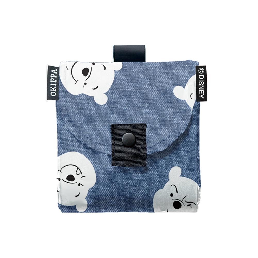 くまのプーさん サステナブル宅配ボックスOKIPPA デニムデザイン - ブルー