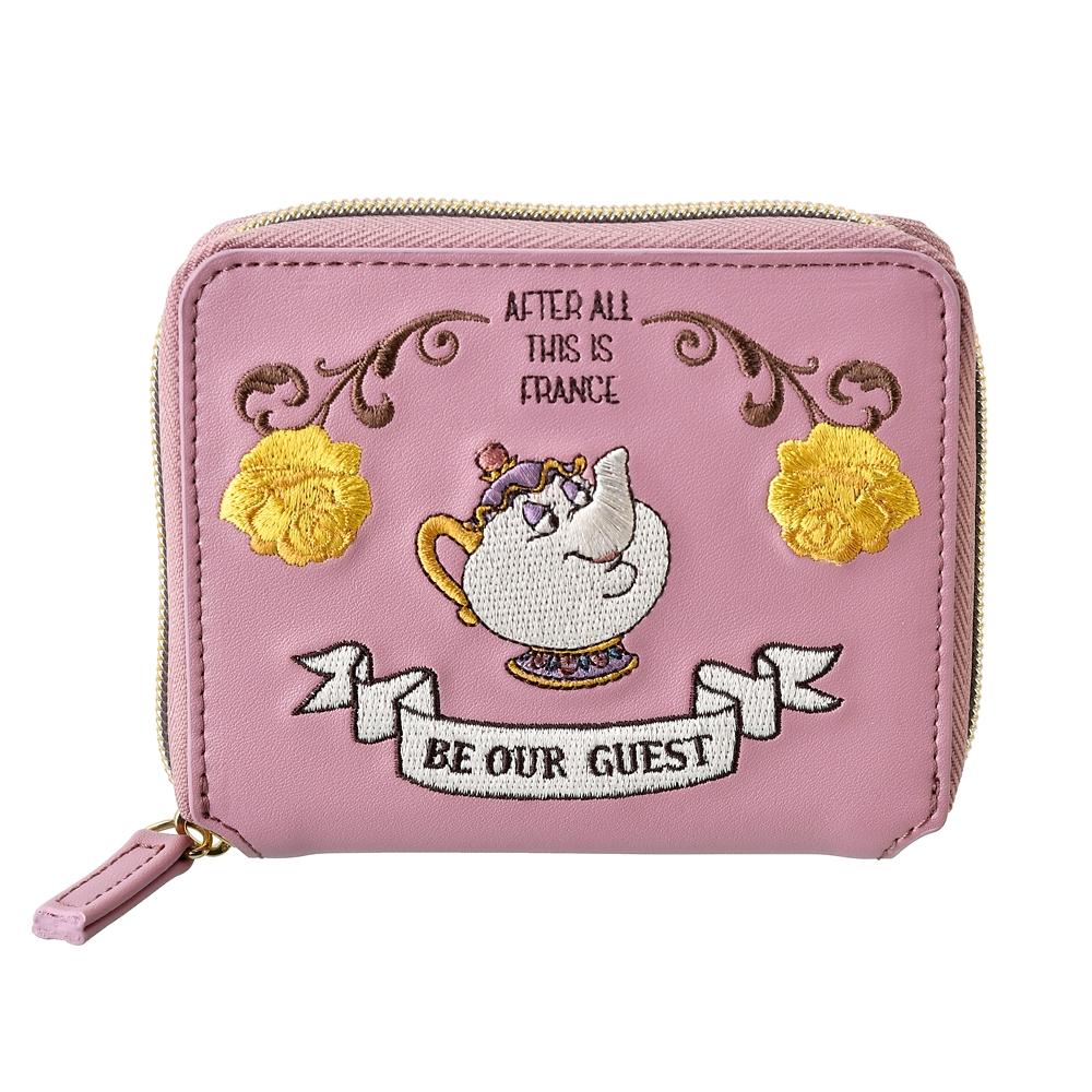 【ACCOMMODE】ポット夫人とチップ 財布・ウォレット クラシック刺繍 美女と野獣
