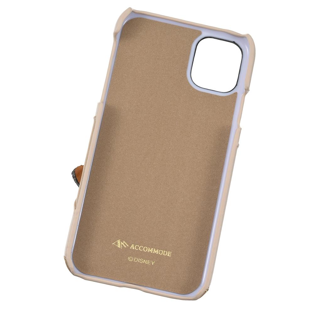 【ACCOMMODE】 バンビ iPhone 11専用スマホケース・カバー パッチワークワッペン キャラメル