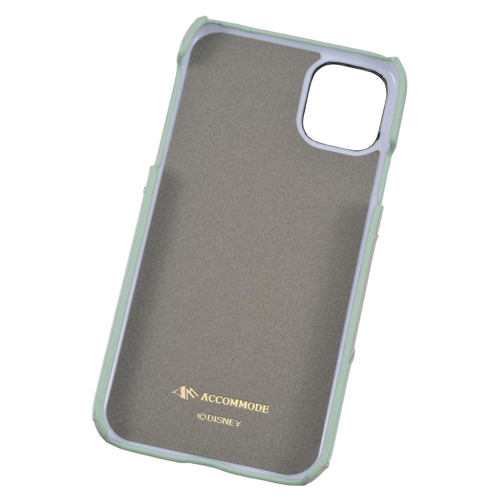 【ACCOMMODE】 とんすけ iPhone 11専用スマホケース・カバー パッチワークワッペン グレー