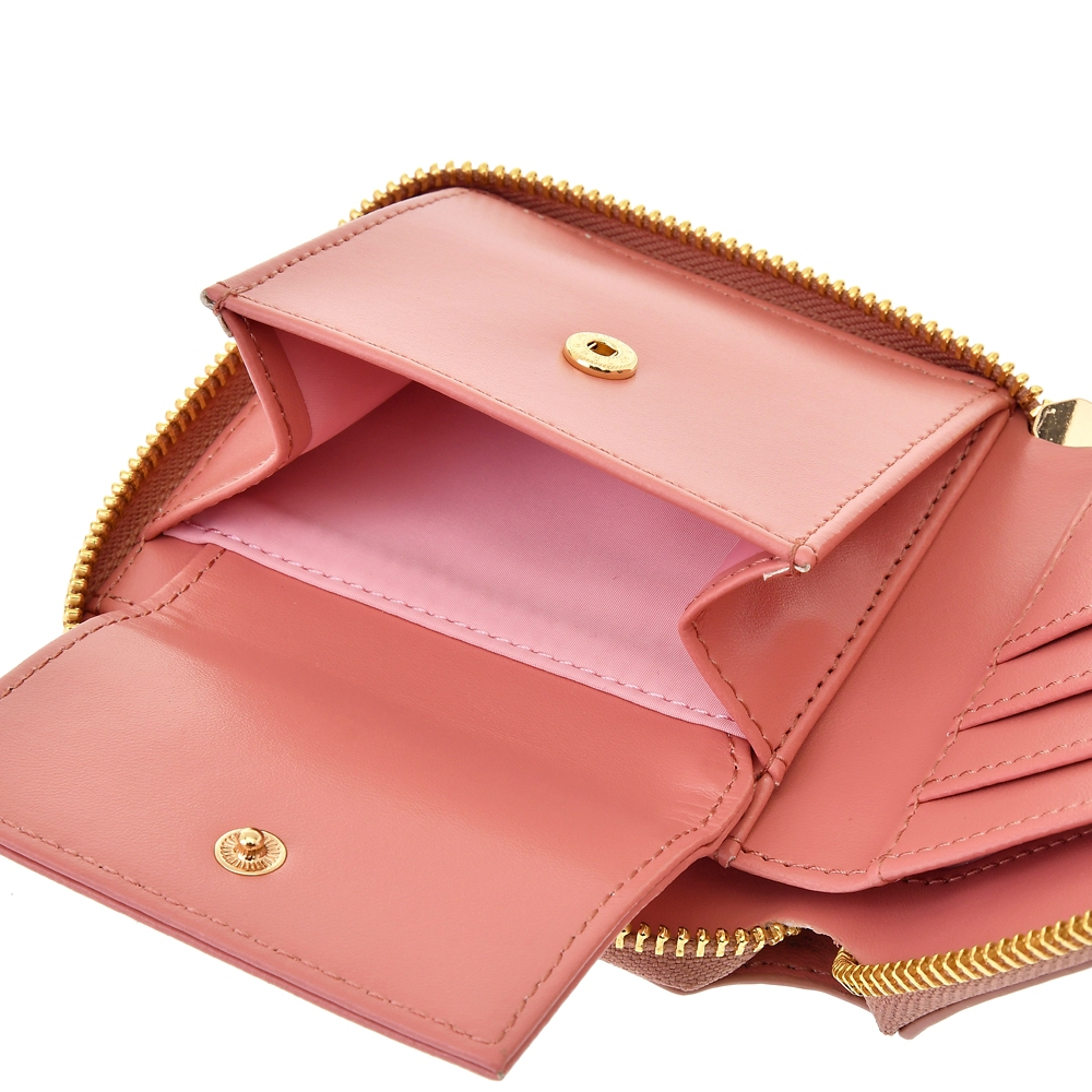【ACCOMMODE】 ミニー 財布・ウォレット ラインパターン ピンク