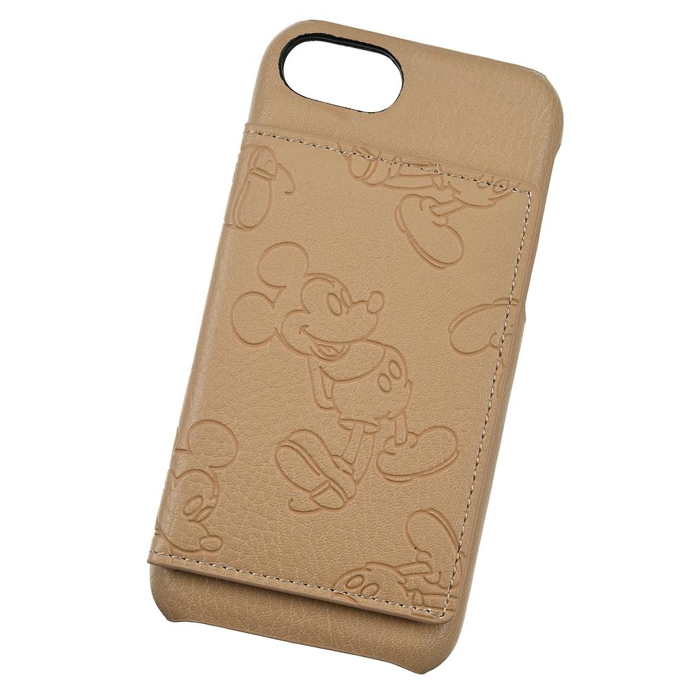 【ACCOMMODE】 ミッキー iPhone 6/7/8/SE(第2世代)用スマホケース・カバー ラインパターン ベージュ