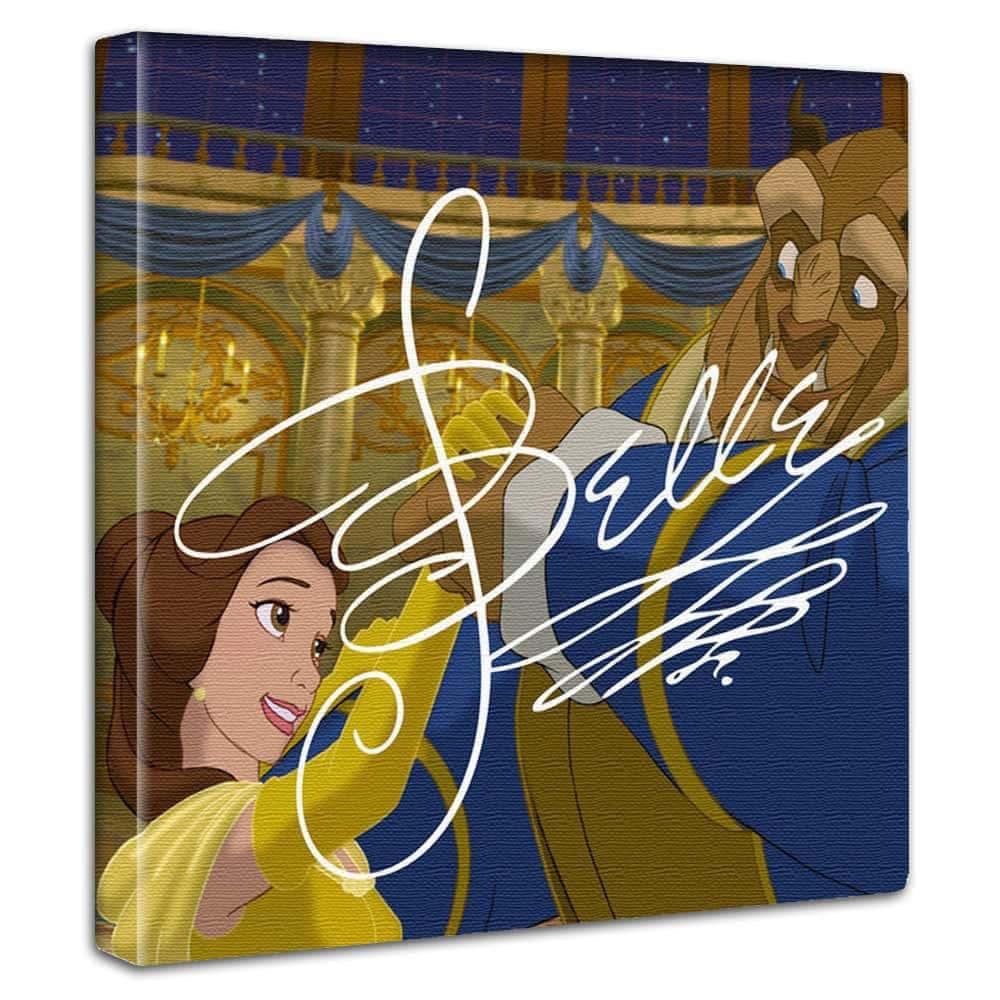 【ファブリックパネル】美女と野獣 ベル&野獣 【dsn-0298】