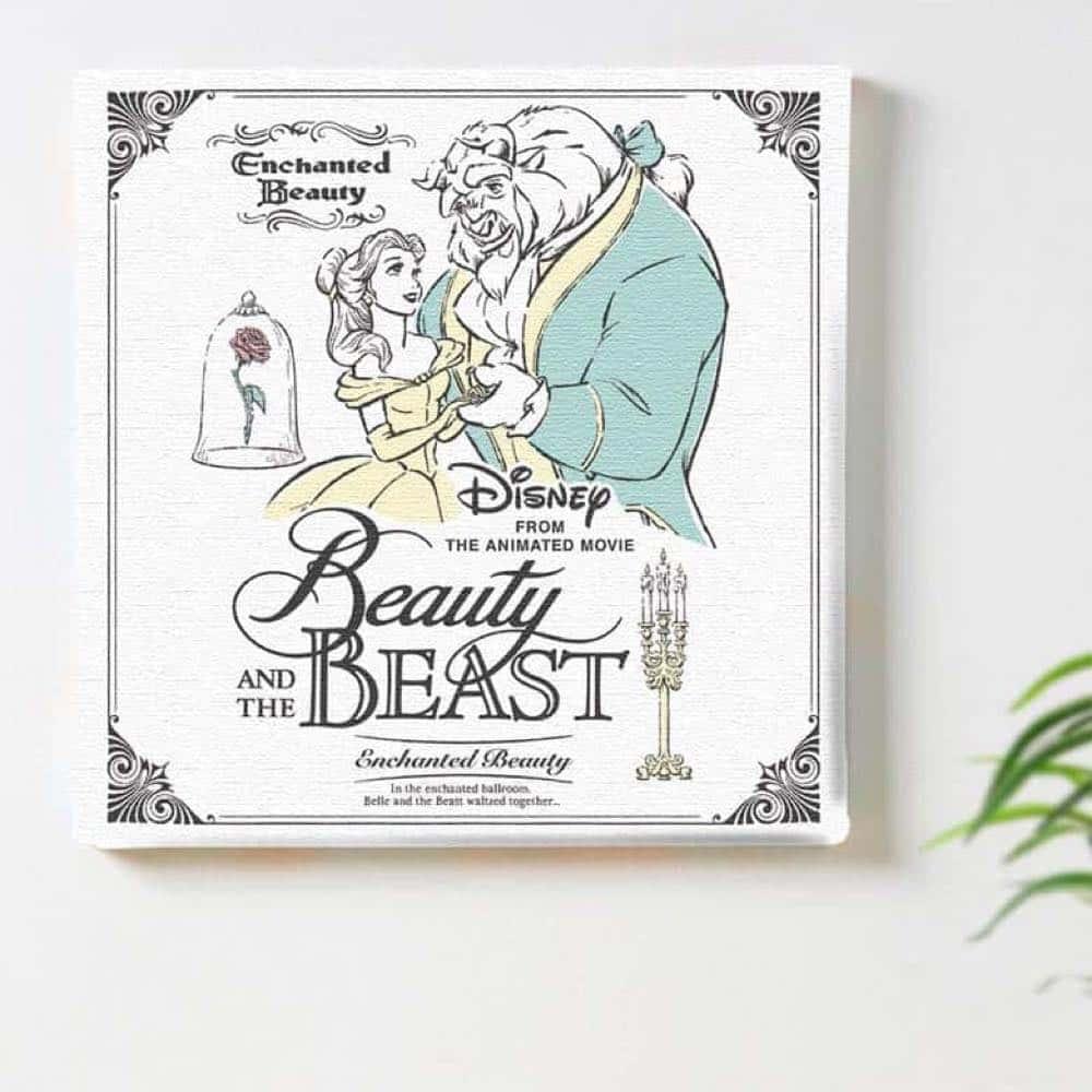 【ファブリックパネル】美女と野獣 バラ【dsn-0323】