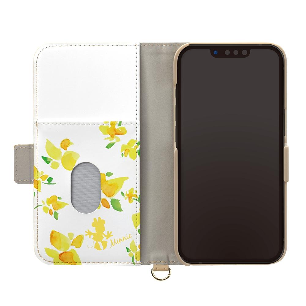 iPhone 13 mini用 フリップカバー [ミニーマウス]