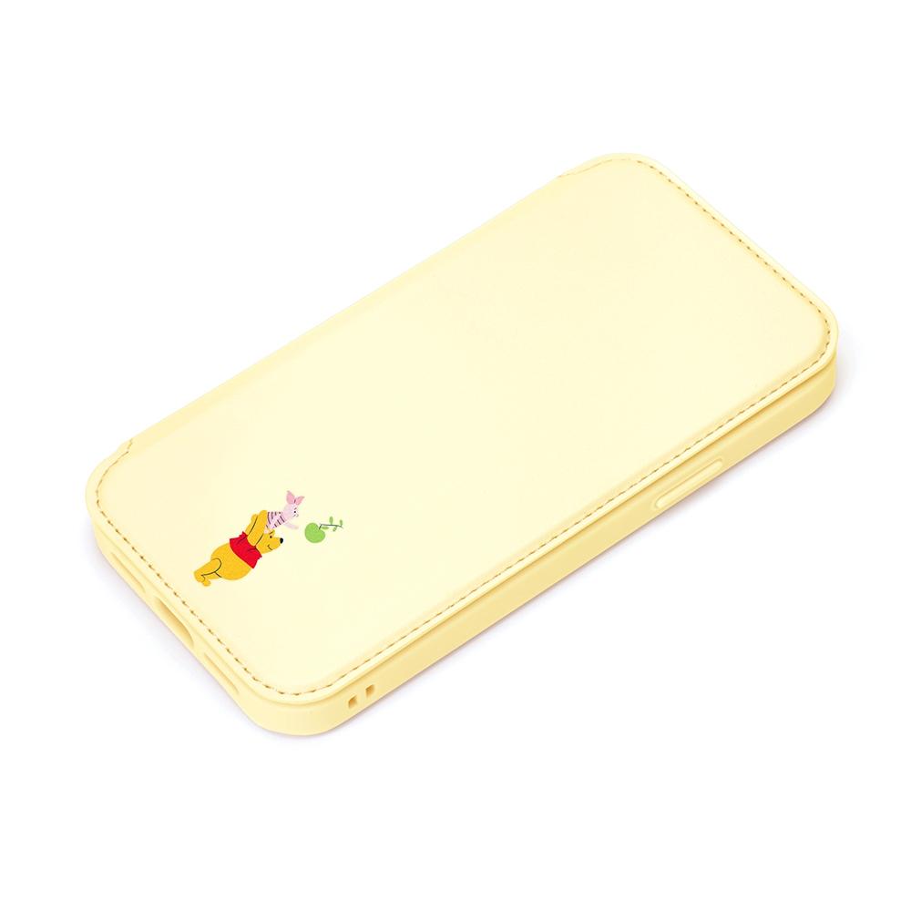 iPhone 13 mini用 ガラスフリップケース [くまのプーさん]