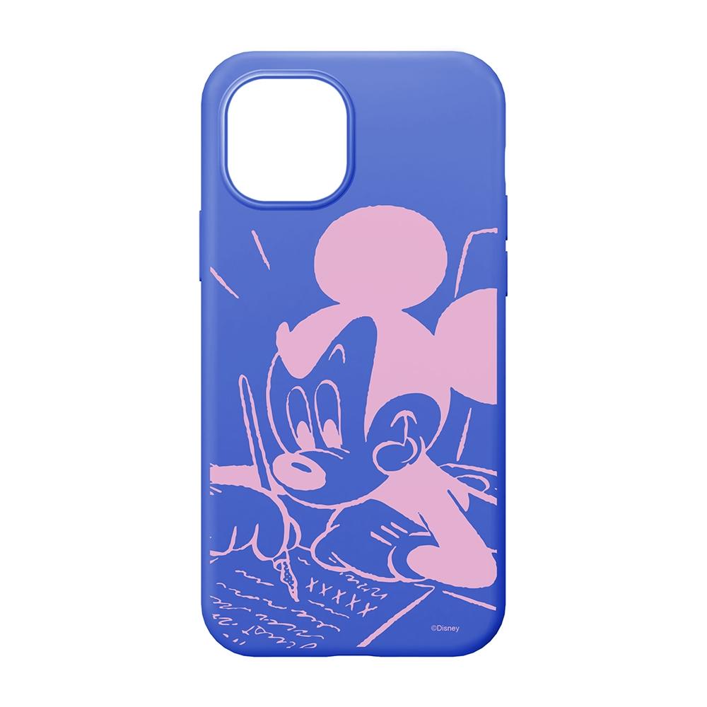 iPhone 13 mini用 抗菌スリムシリコンケース [ミッキーマウス]