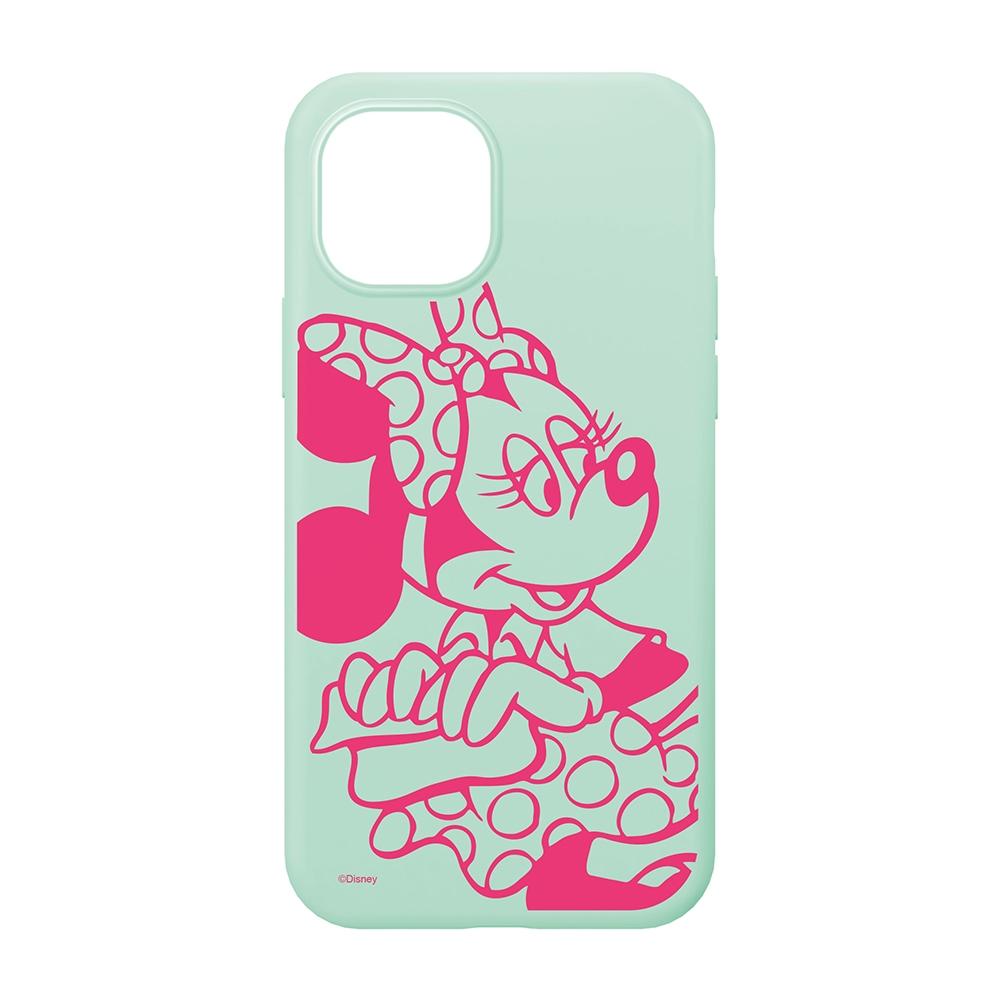 iPhone 13 mini用 抗菌スリムシリコンケース [ミニーマウス]