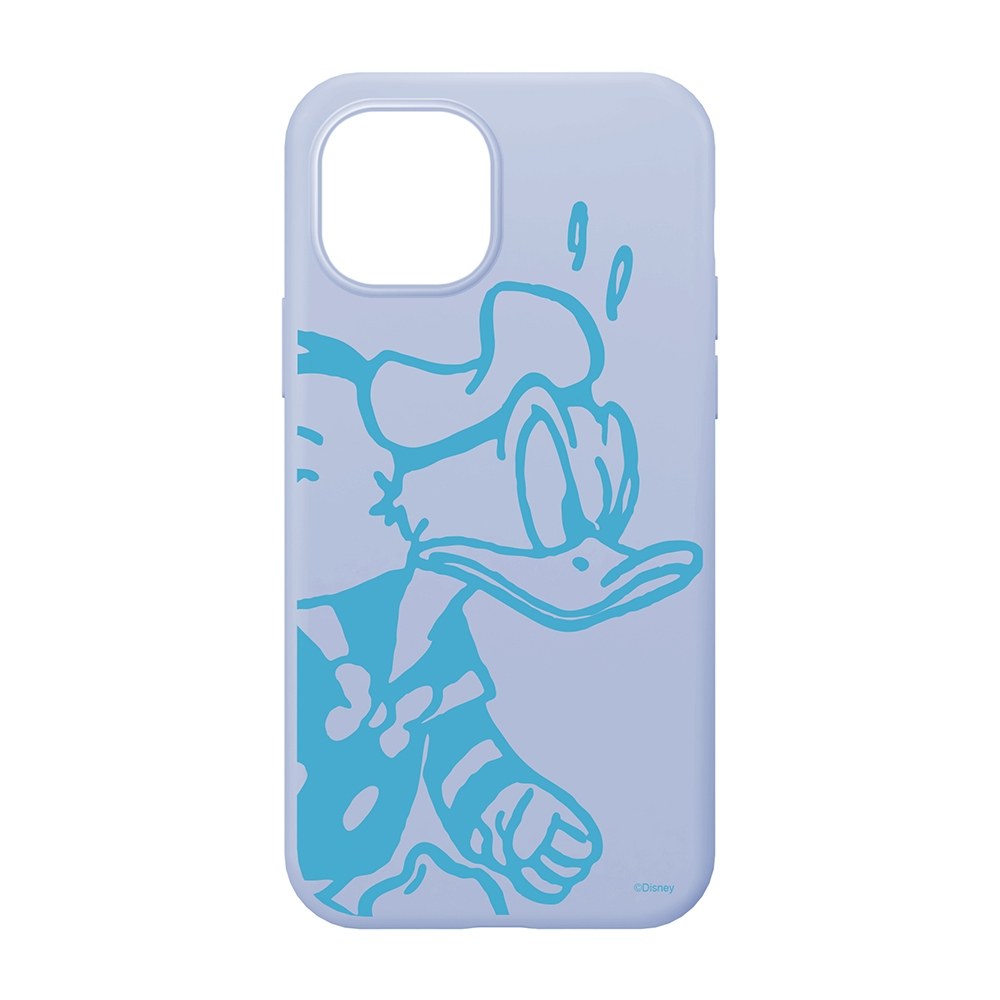 iPhone 13 mini用 抗菌スリムシリコンケース [ドナルドダック]