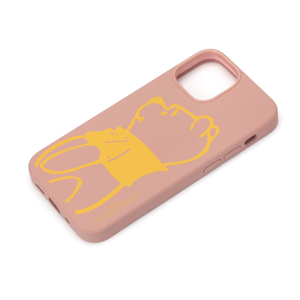 iPhone 13 mini用 抗菌スリムシリコンケース [くまのプーさん]