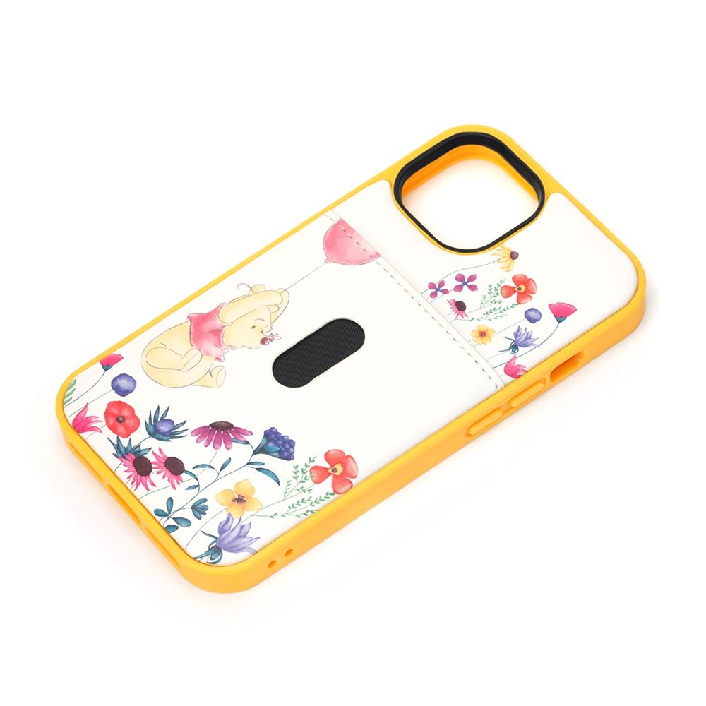 iPhone 13 mini用 タフポケットケース [くまのプーさん]
