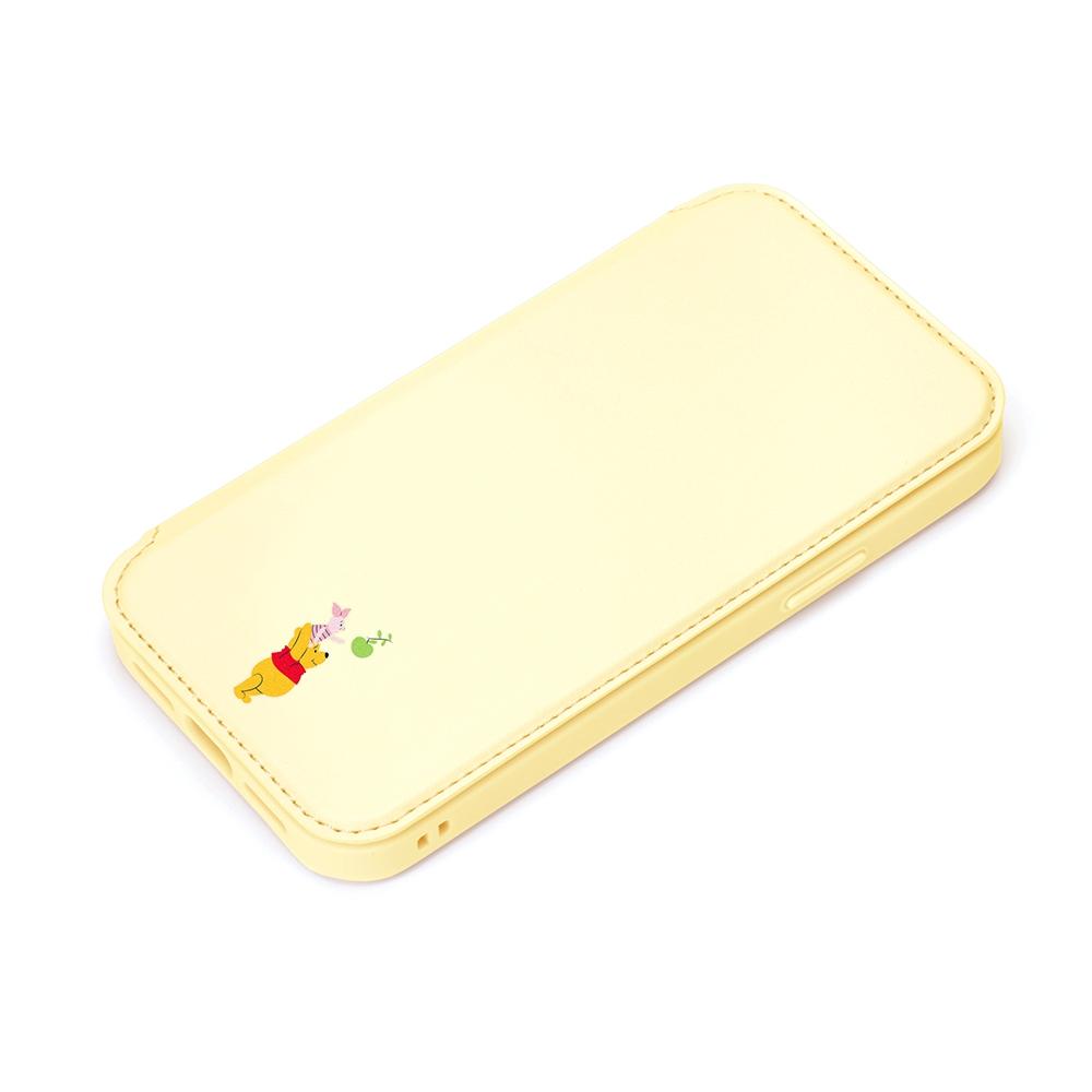 iPhone 13用 ガラスフリップケース [くまのプーさん]