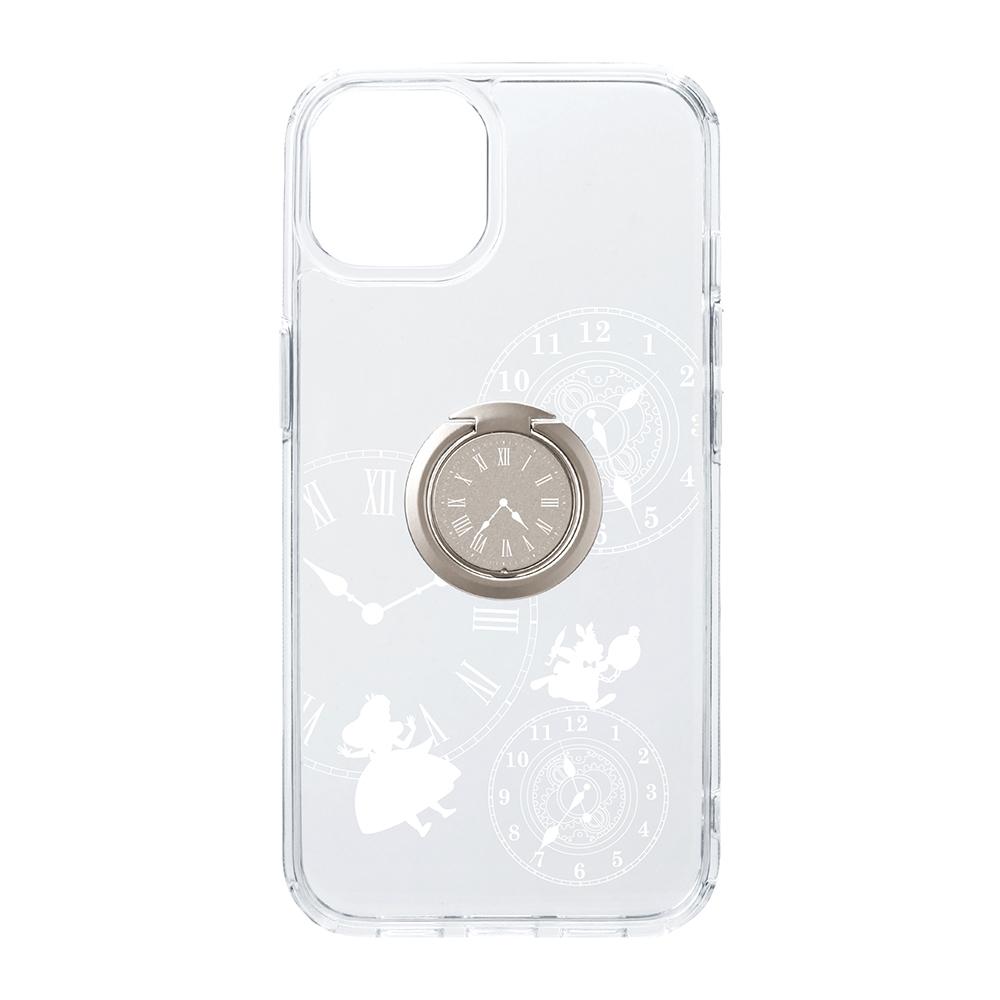 iPhone 13用 リング付 抗菌ハイブリッドケース [アリス]