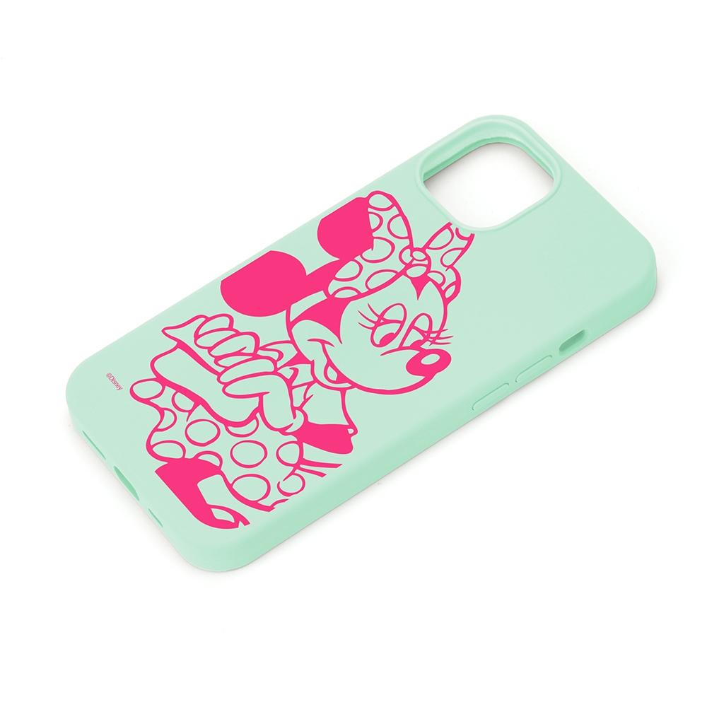 iPhone 13用 抗菌スリムシリコンケース [ミニーマウス]