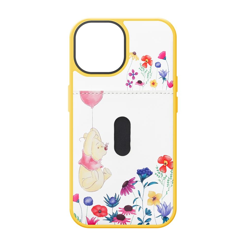 iPhone 13用 タフポケットケース [くまのプーさん]