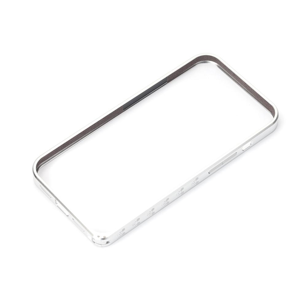 iPhone 13用 アルミバンパー [ミッキーマウス/シルバー]