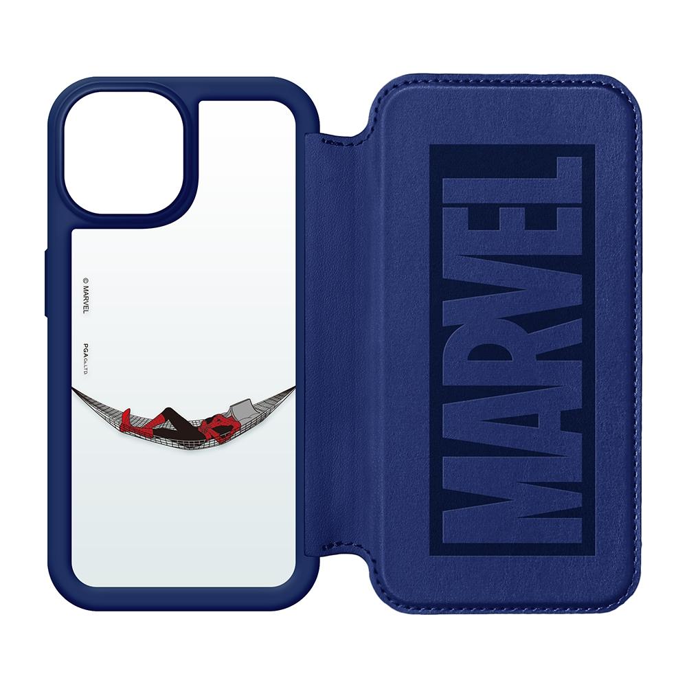 iPhone 13用 ガラスフリップケース [スパイダーマン]