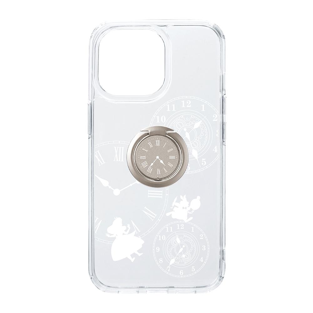 iPhone 13 Pro用 リング付 抗菌ハイブリッドケース [アリス]