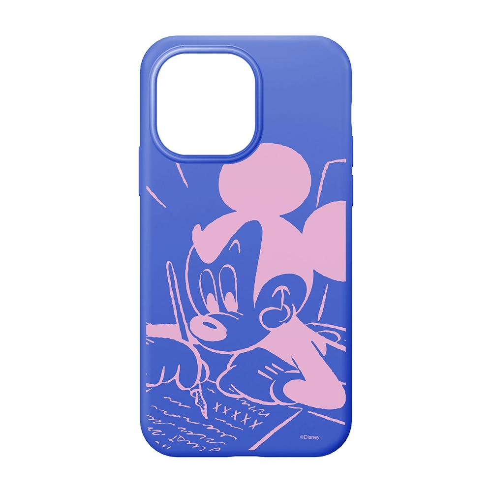iPhone 13 Pro用 抗菌スリムシリコンケース [ミッキーマウス]