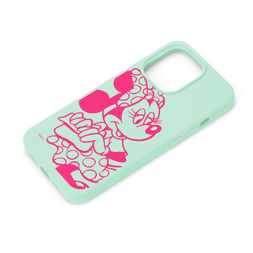 iPhone 13 Pro用 抗菌スリムシリコンケース [ミニーマウス]